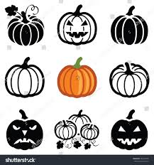 pumpkin halloween icon collection vector outline stock vector