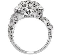gorilla radio wedding band jai sterling silver leopard ring page 1 qvc
