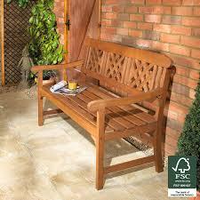 Garden Bench Hardwood Robert Dyas Fsc 3 Seater Garden Fence Bench Robert Dyas