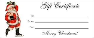gift certificates altogetherchristmas printable gift certificates
