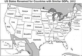 map us states world economies us map states renamed for countries with similar gdps see the