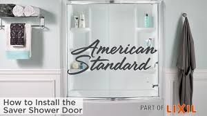 Install Shower Door by Saver Sliding Bath Shower Door American Standard
