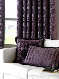 Plum Velvet Curtains Dulux Luxury Heavy Velvet Purple Pencil Pleat Curtain Luxury