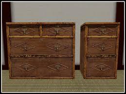 second life marketplace re bamboo dresser u0026 nightstand set one