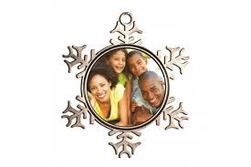 sublimation pewter snowflake ornament with