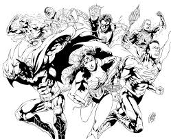 justice league coloring pages chuckbutt com