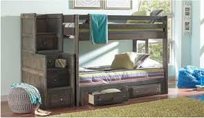 Grayson Solid Wood Full Size Bunk Bed In Gun Smoke - Full sized bunk beds