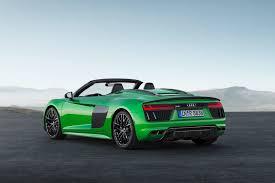 audi r8 v10 msrp audi r8 spyder v10 plus is 610 horsepower of drop top supercar