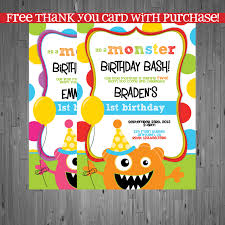 cards ideas with monster birthday party invitations hd images