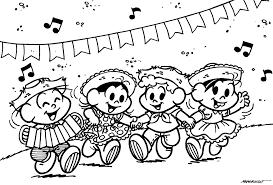 Famosos Desenhos Para Colorir Festa Junina (Turma da Mônica) - Como  &GE86