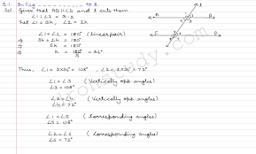 class 9 class ix cbse r d sharma solutions lines and angles ex
