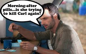 Rick And Carl Meme - rick grimes with more lori and carl problems walking dead comic book