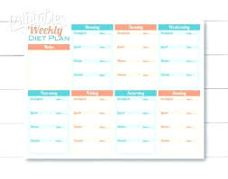 printable meal planner with calorie counter printable meal planner template