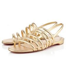 latest technology louboutin online belgie gold flat sandals 142 40