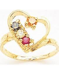gold mothers rings amazing shopping savings 14k gold heart shaped s ring with 4