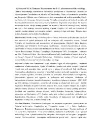 msc microbiology entrance exam syllabus 2017 2018 studychacha
