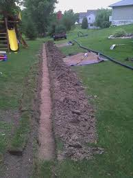 Water Drainage Problems In Backyard Solve Yard Drainage Issues Drain Tile Install 5 Steps