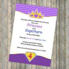 disney princesses and famous superheroes birthday invitation