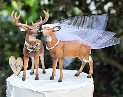 buck and doe cake topper buck and doe wedding cake topper deer wedding cake