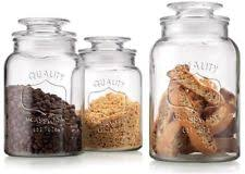 ikea kitchen canisters ikea korken jars set of 3 with lid clear glass canister ebay