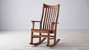 classic wooden rocking chair for nursery