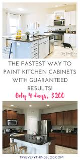 the fastest way to paint kitchen cabinets with the best results