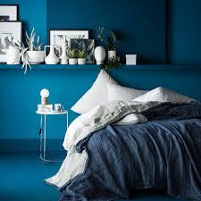 linge lit lin ensemble couvre lit jeté de lin marine blanc cerise
