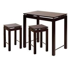kitchen minimalist kitchen island table with 2 stools in espresso