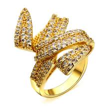 long rings design images 2018 woven design ladies gold engagement rings top quality cubic jpg