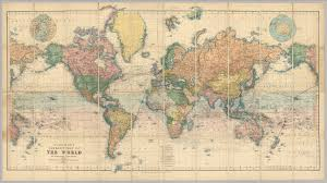 World Map Prints by Map Of The World David Rumsey Historical Map Collection