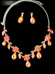 orange necklace sets images Orange jewelry sets home accessories jewelry jewelry sets jpg