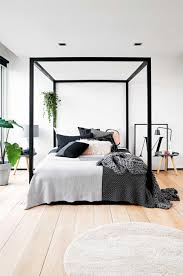 bedroom white wooden bed frame contemporary bedroom decor room