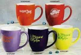 cheap personalized bistro mugs custom printed in bulk 2 tone