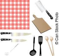 objets de cuisine ustensiles objets cuisine ustensiles objets noir clipart