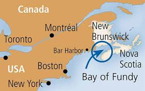 map canada east coast the phenomenal bay of fundy bay of fundy