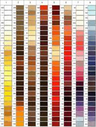 Colour Shades Gutermann Color Shade Card