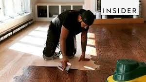 refinishing hardwood floors part 1 sanding