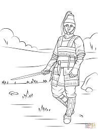 celtic armored warrior coloring page free printable coloring pages