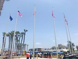 With All Flags Flying Historic United States Flags Flown At Pier Plaza City News