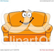 Couch Cartoon Clipart Of A Happy Cartoon Couch Royalty Free Vector