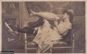 vintage postcards wonderings