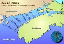 map of ta bay bay of fundy nifty bay of fundy tide height map