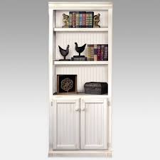 Bookcase With Doors Retro White Beadboard Bookshelves With Doors Of Delightful White