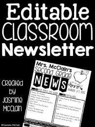 best 25 classroom newsletter free ideas on pinterest newsletter