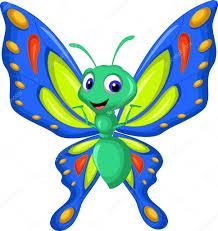 cute butterfly cartoon flying u2014 stock vector starlight789 66180039