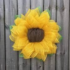burlap sunflower wreath 24 yellow burlap sunflower wreath with starburst center julie s