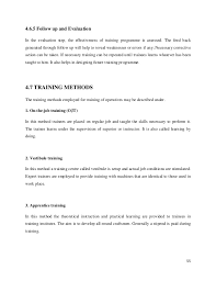 Resume For Stay At Home Mom Example by Mba Hr Project Report On Training And Development