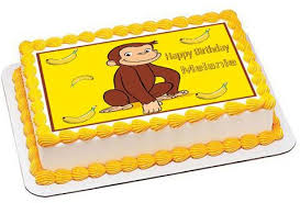 curious george cake topper all cake toppers and cupcake toppers strips for the cake side