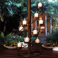 Outdoor Candle Lighting by Spiral Candle Candelabra Centerpiece For Tables