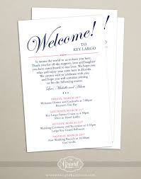 wedding itinerary for guests itinerary cards for wedding hotel welcome bag printed